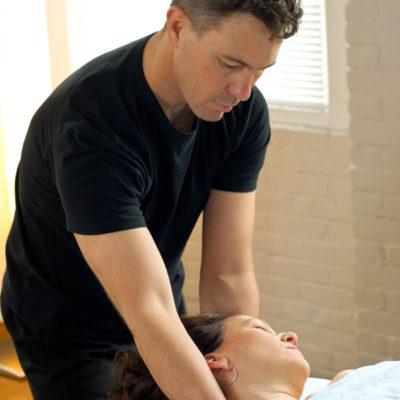 Gary Massaging a Woman's Neck
