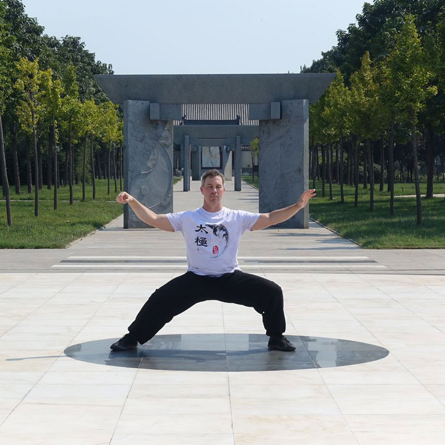 Gary in China Doing Tai Chi