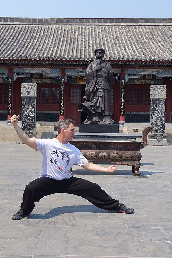 Gary in Tai Chi Pose